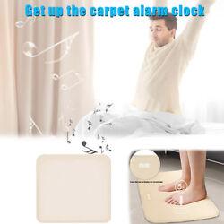 Stand On Pressure Sensitive Battery Smart Alarm Clock Mat Floor Rug LED Time
