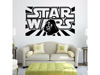 Removable Scroll Wall Stickers Home Decor Mural Decal Kids Room #19 Darth Vader