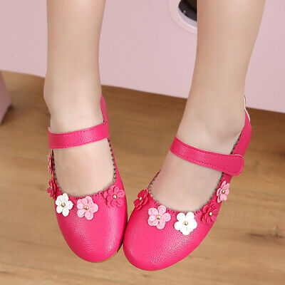 Fashion Baby Girls Flats Toddler Flower Princess Shoes Students Casual Shoes](Flower Girls Shoes)