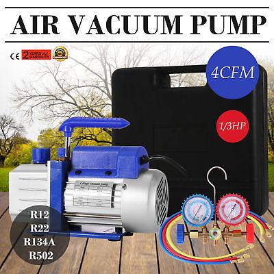 4CFM Pompa Del Vuoto Manometro Strumento R134A R502 R22 R12 Manometri Gas 5PA