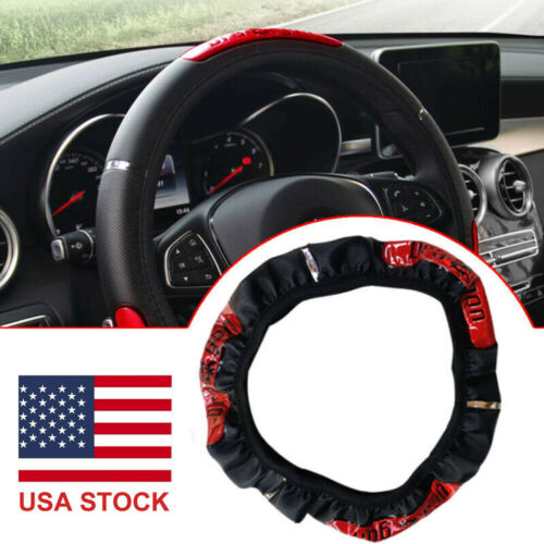 15inch/38cm Anti-slip PU Leather Car Steering Wheel Cover Protector Accessories Car & Truck Parts