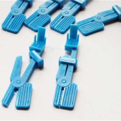 20 Pcs Dental Clinic Plastic Snap Universal X-ray Film Clip Holder Blue Color