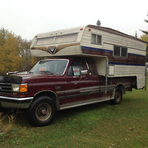 1990 Truck and camper for sale