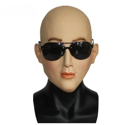 Face Latex Halloween Cosplay Costume Female Head Sexy Unisex Party Mask New - Halloween Female