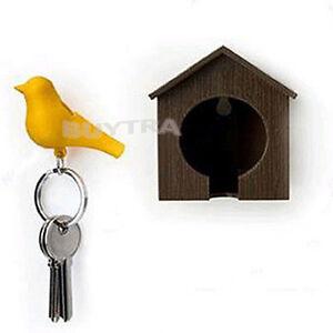 Distinctive Bird Nest Sparrow House Key Chain Ring Chain