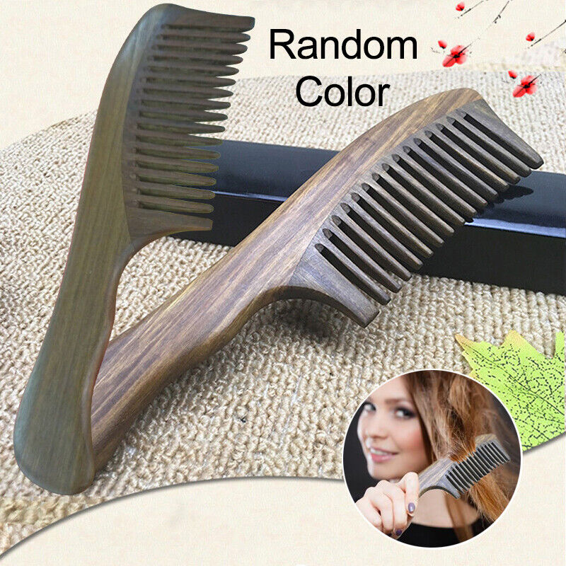 Handmade Wooden Sandalwood Wide Tooth Wood Comb Smooth Comfo