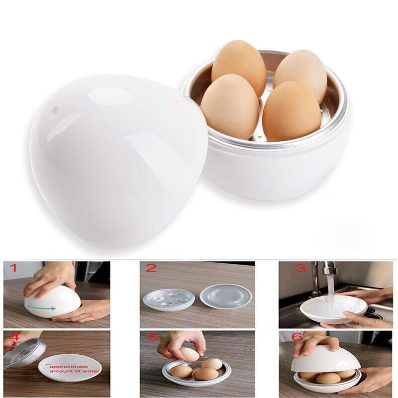 Egg Pod - Microwave Egg Boiler Cooker Egg Steamer Perfectly Cooks Eggs