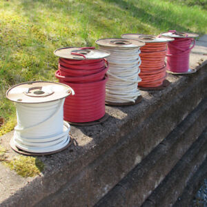 5 PART REELS OF ELECTRICAL WIRE FOR SALE