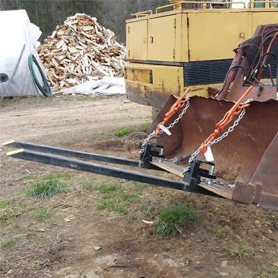 Clamp on Loader Bucket Skidsteer Tractor Pallet Fork 3000lbs Capacity