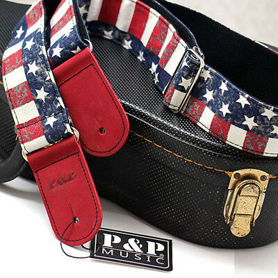 Guitar Strap Nylon Adjustable for Acoustic Electric Bass Retro Folk Style