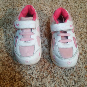 Pink & White Running shoes-Size 7