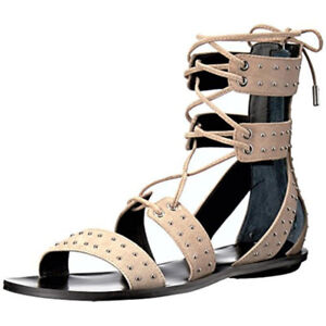 Kendall + Kylie Womens Fabia Studded Open Toe Gladiator Sandals
