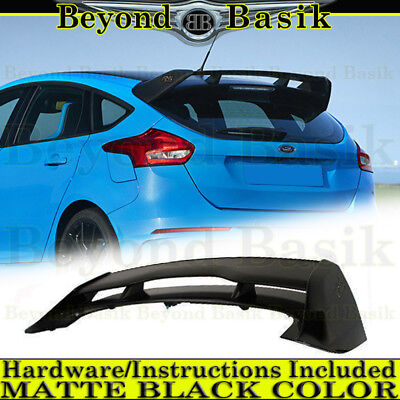 Car Auto Wing - 2012-2018 Ford Focus Hatchback RS MATTE BLACK Factory Style Spoiler Wing ABS