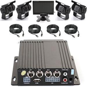 Hot-4CH-Coche-Moviles-grabador-DVR-4-INFRARROJOS-Luz-Camara-De-Vision-Cable