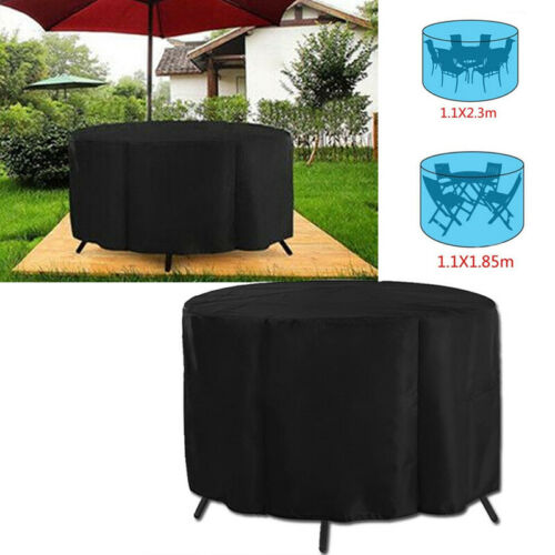 New Patio Table Chair Set Large Round Waterproof Outdoor Garden Furniture Cover