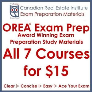 ●OREA● Real Estate Exam Preparation Study St. Catharines