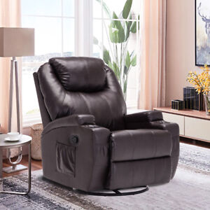 NEW AIR LEATHER MASSAGE CHAIR SOFA RECLINER W/ HEAT SALE !