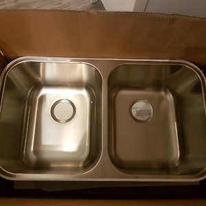 !NEUF, Lavabo Stainless Double!298$ +txs en magasim
