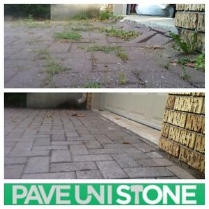 PAVE_UNI STONE - PAVER CLEANING & SANDING -RE-LEVELLING West Island Greater Montréal image 2