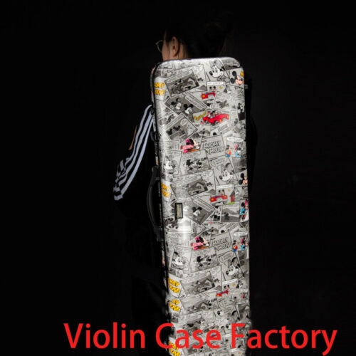 Liyin Violin Case 4/4 Violin Case Carbon Fiber Composite Mickey Mouse#