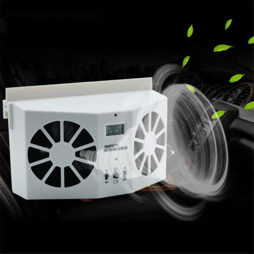 Car Air Conditioners Fans : Solar power mini auto car window air vent cool ventilator