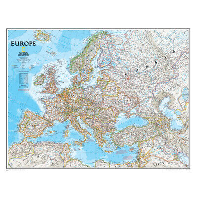 Europe Wall Map, 34