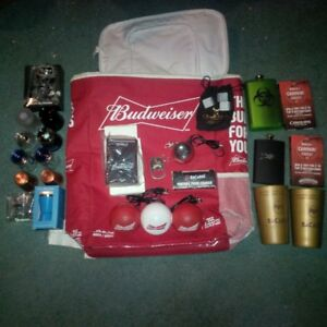 LCBO + Budwiser Collectibles! Speakers, Luggage tags  etc....