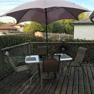 PATIO SET WITH UMBRELLA Peterborough Peterborough Area image 1