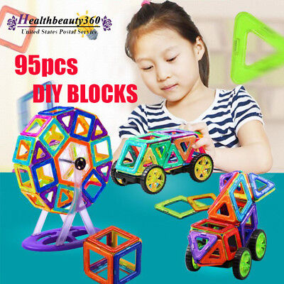 95Pcs Colorful Magical Magnet Building Blocks Educational Toys Set For Kids Gift - Magical Building Set