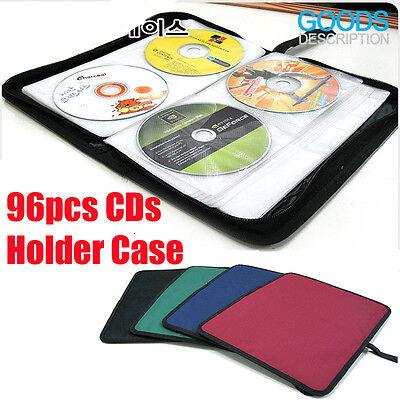 96 DISC CD DVD Music Movie Portable DJ Bag Case Holder Wallet Storage Pack Carry