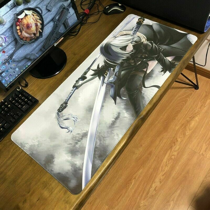 NieR Automata YoRHa Type B 2B Large Playmat Mousepad Game Mouse Pad Keyboard Mat