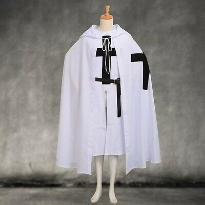 Medieval Robe (Medieval Teutonic Knight  Crusade Tunic Cloak Cape Belt Robe Costume SCA)