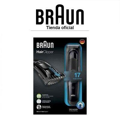 Cortapelo profesional hombre Braun HC5050 - 17 ajustes de longitud, DualBattery
