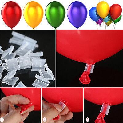 100PCS Balloons Sealing Clip Ballon Wedding Party Decoration Supplies NEW (Balloon Clip)