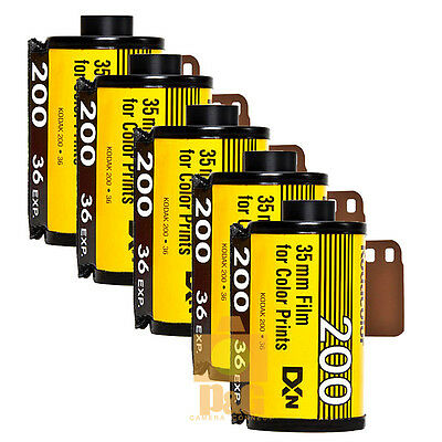 New Kodak Colorplus 200 35mm 36exp Film 5Rolls  / Date 04-2020