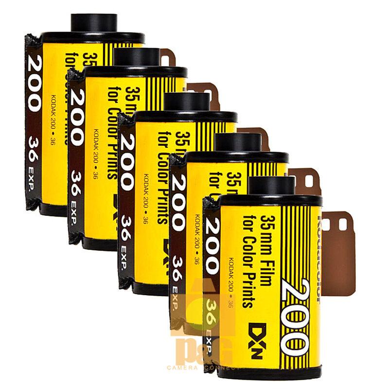 New Kodak Colorplus 200 35mm 36exp Film 5Rolls  / Date 04-2021