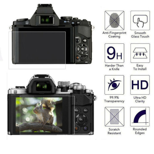 9H HD Anti-Scratch Tempered Glass Screen Protector Film for Olympus EM1 E-PL8