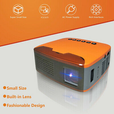 U20 Mini 1080P HD Projector Portable Home Cinema Beamer AV/HDMI/USB/TF LED LC kw