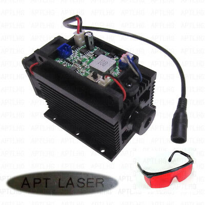 Focusable Ttl Analog 450nm 445nm 10w 10000mw Blue Laser Module Engraving Metal