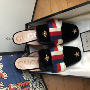 Gucci Horsebit velvet Loafer with Crystals