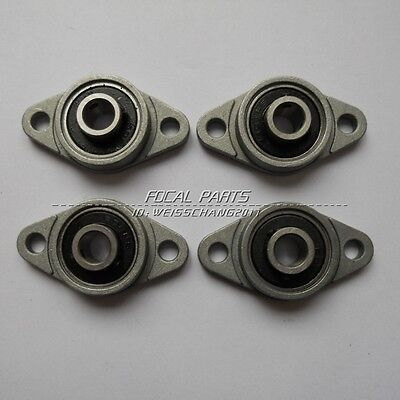 (4Pcs 8mm Bore Diameter KFL08 FL08 Pillow Block Bearing Flange Block Bearings M94)