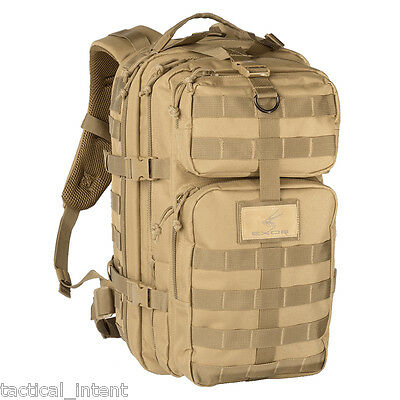 Exos Bravo Tactical Assault Molle Hydration Pack Ready Backpack - Coyote Tan