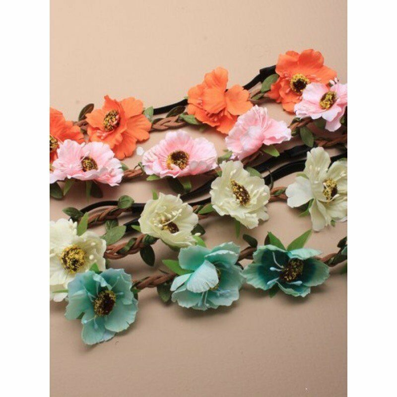 Royal Wedding Fabric wild rose Wedding Hair Flowers, Flower Crowns, Head Wreaths