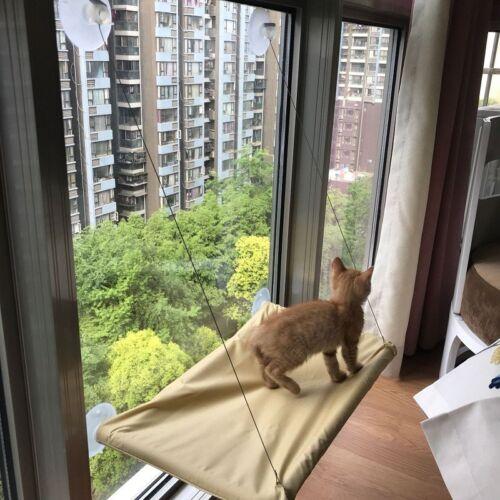 Hanging Cat Bed Mat Soft Cat Hammock Window Kennels 15KG Shelf Seat Cushion