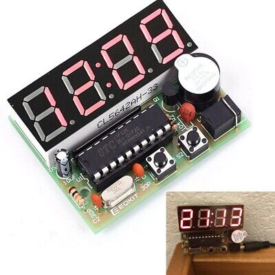 C51 4 Bits Digital Led Electronic Clock Production Suite Diy Kits Set Module Kit