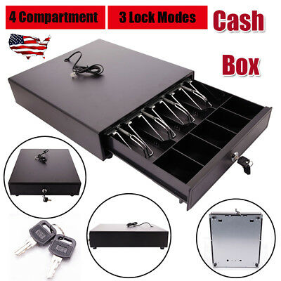 Usa Cash Drawer Box Works Compatible Epson Pos Printers W4bill 5coin