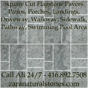 Silver Valley Square Cut Flagstone Indian Stone Patio Flagstone