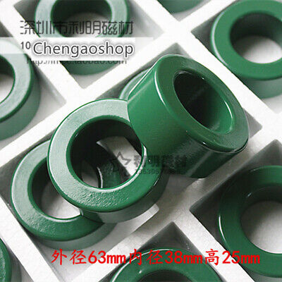 1pc New Ferrite Magnetic Ring 63 38 25 Green Transformer Filter Pc40 Q15 Zx