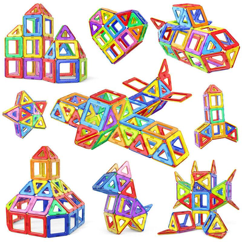 Magnetic Tiles Building Blocks Boy Girl Educational Toys Kid