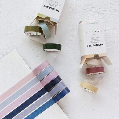 6Rolls Morandi Paper Washi Masking Tape Japanese Scrapbooking Supplies Sticker Japanese Washi Paper Tape